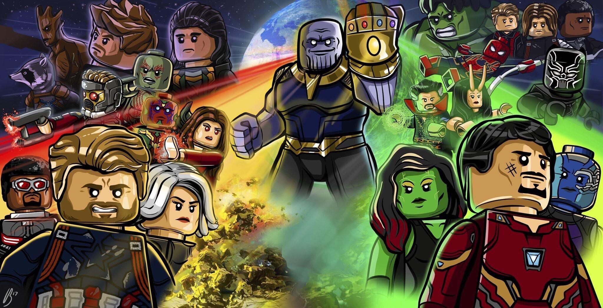 Lego Avengers Infinity War Poster Image Marvel Amp Dc