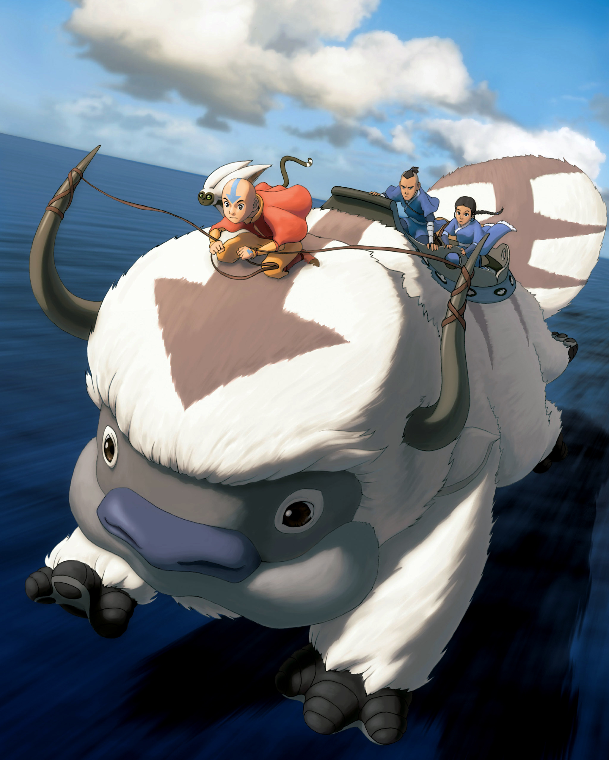 Katara Sokka Aang Momo Appa Image Avatar Mod Db