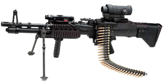 M-240 light MG with ELCAN sights image - Military Personnel Arms ...