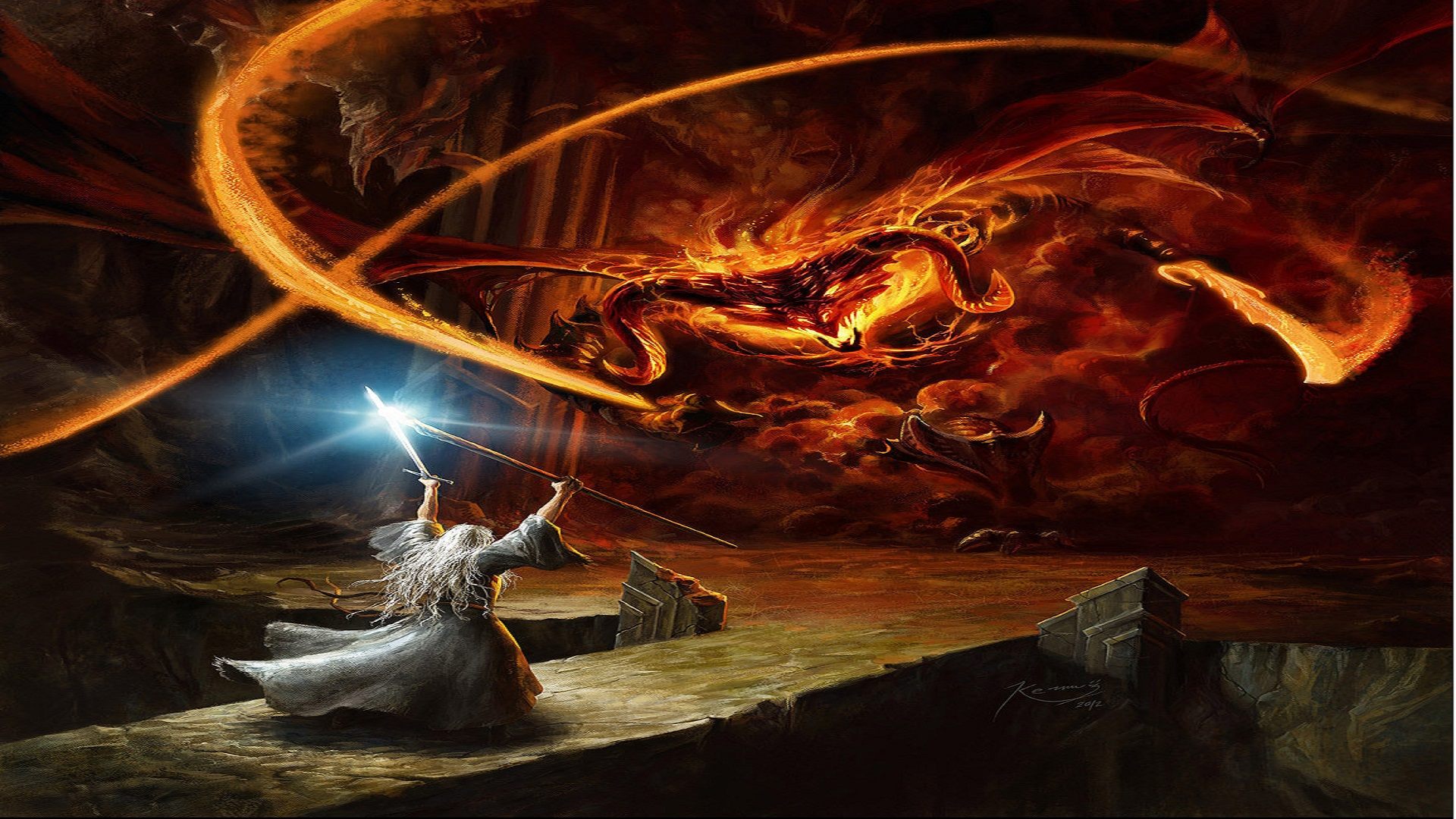 You Shall Not Pass Gandalf Wallpaper Art Image The Fellowship