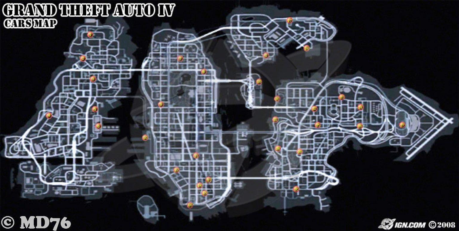 Gta 4 Gun Shop Locations GTA 4 Map image - GTA ...