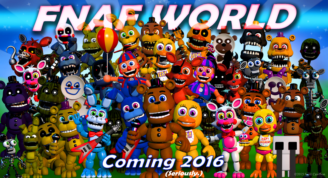 Fnaf world color tone changes image five nights of theories mod