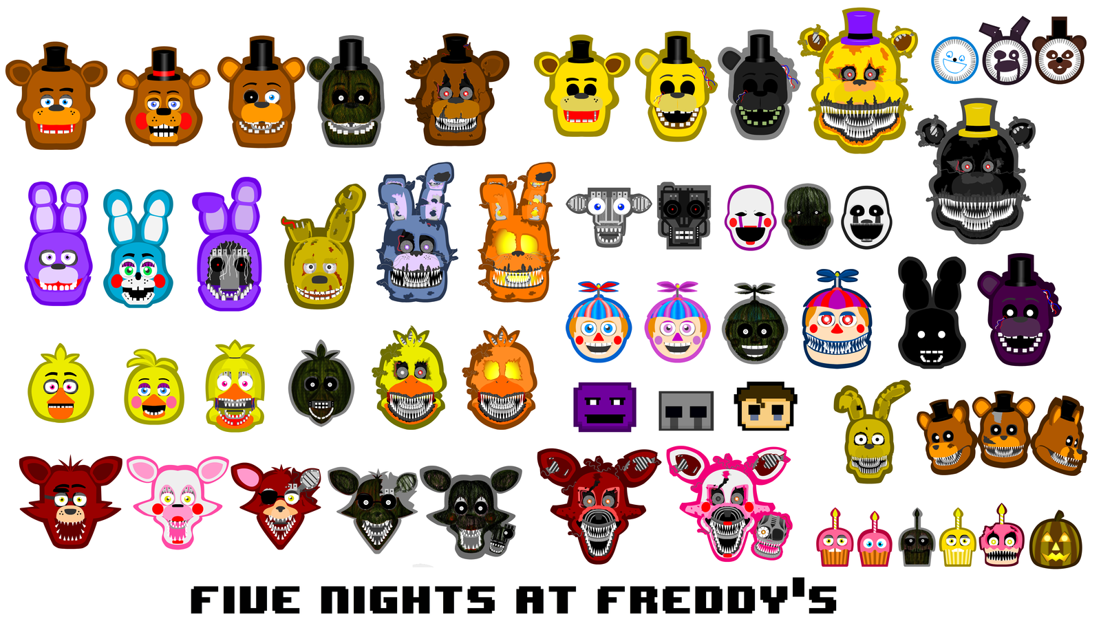 All FNaF Characters! image - Mod DB