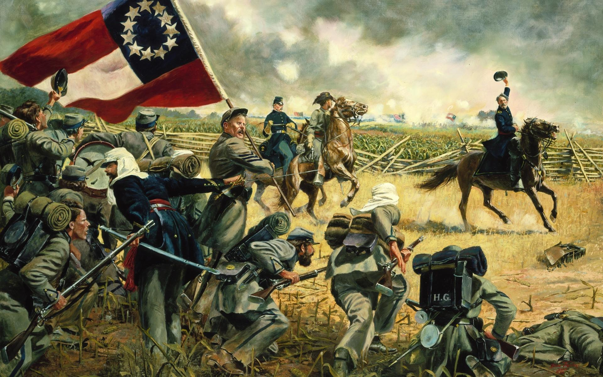 american civil war art painting 2 image - atrim - Mod DB |American Civil War Battle Paintings