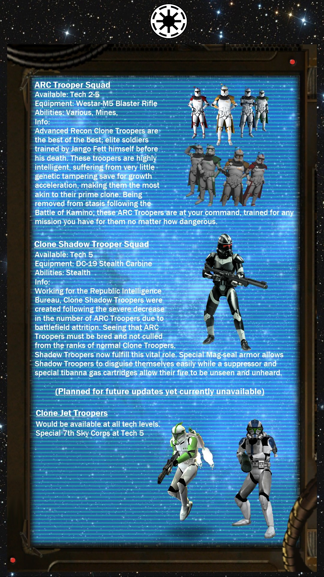 Legends Mod: The Clone Wars, A Guide to Infantry feature