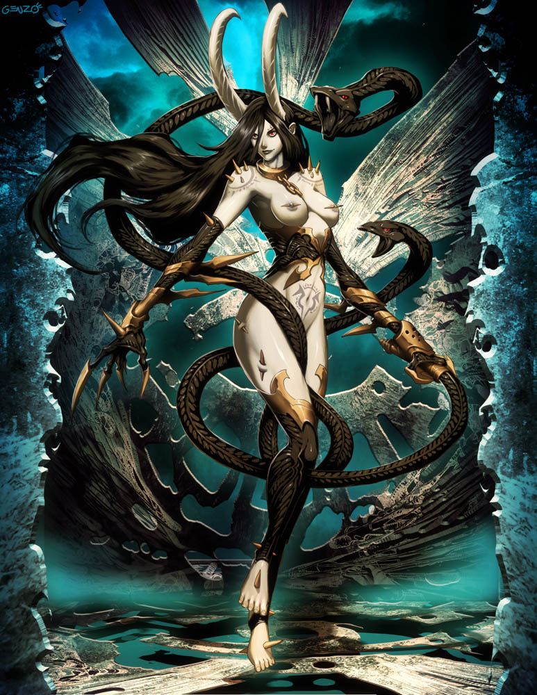 Slaanesh By Genzoman Image Warhammer 40k Fan Group Mod Db