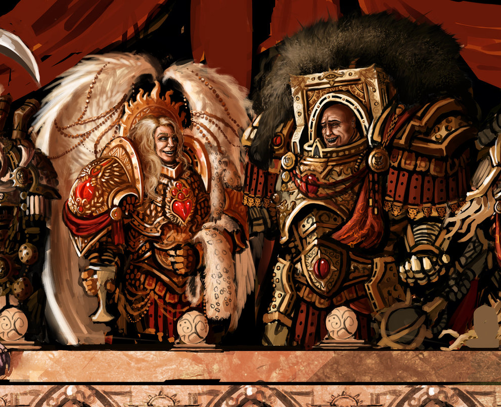 Sanguinius and Horus, Laughing? image - Warhammer 40K Fan ...  Sanguinius and ...