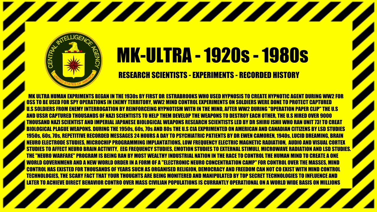 MK-Ultra - 1920s -1980s - Modern Day image - United States of