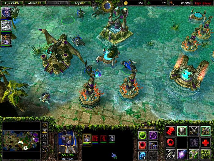 Warcraft 3 frozen throne - карта russian dota v465!