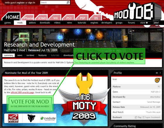 2009 awards have begun! news - Mod DB