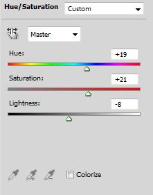 HSL panel in Photoshop.