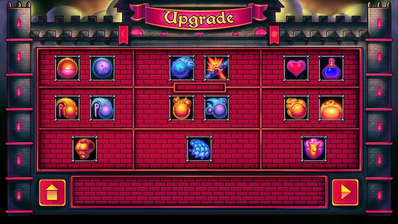 Upgrades screen