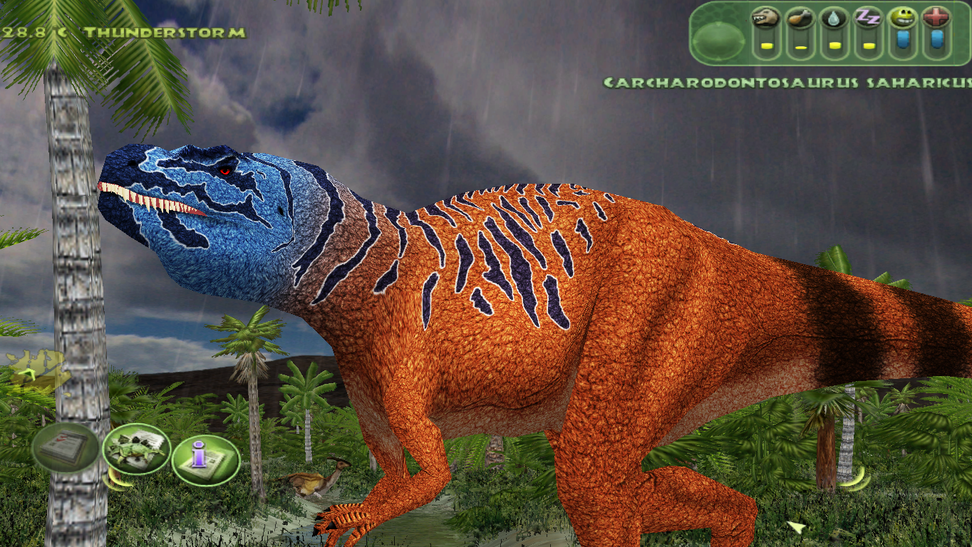 Mesozoic Revolution's Carcharodontosaurus. This was before I actually started revamping the environment, so the HD dinosaur is surrounded by a lower-quality world. LOL