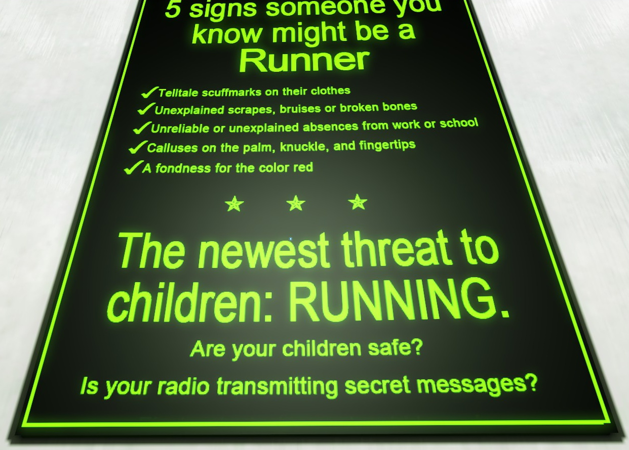 Newest threat to children: RUNNING