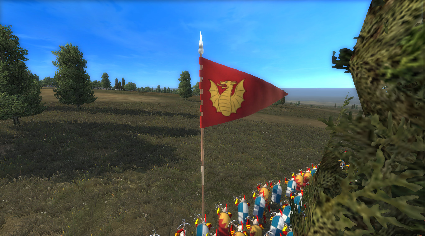 Showing the battle banner for the missile units