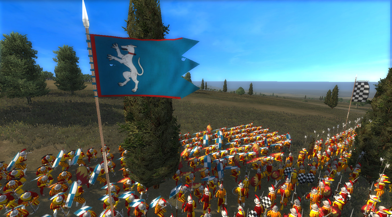 Showing the battle banner for the spearman units
