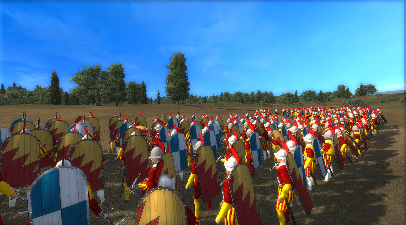 Showing the Pavise Crossbowmen of Bologna from the back