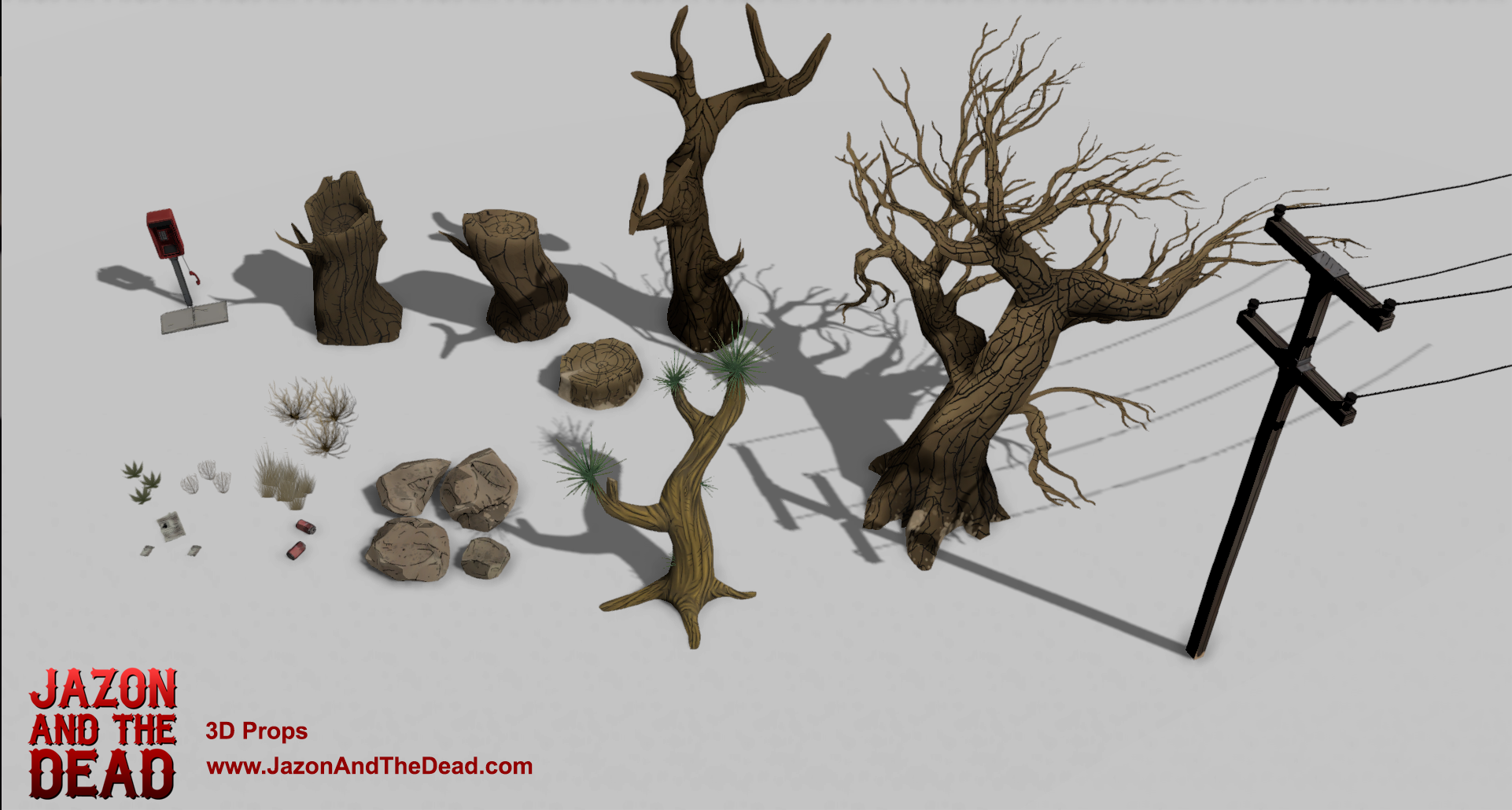 3D Props for Jazon and the Dead