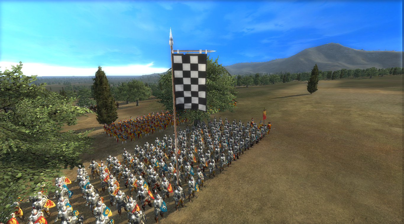 Showing the battle banner for the infantry units