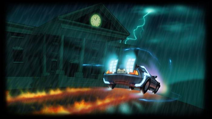 Add Media Report RSS Back To The Future Game Art Concept View Original