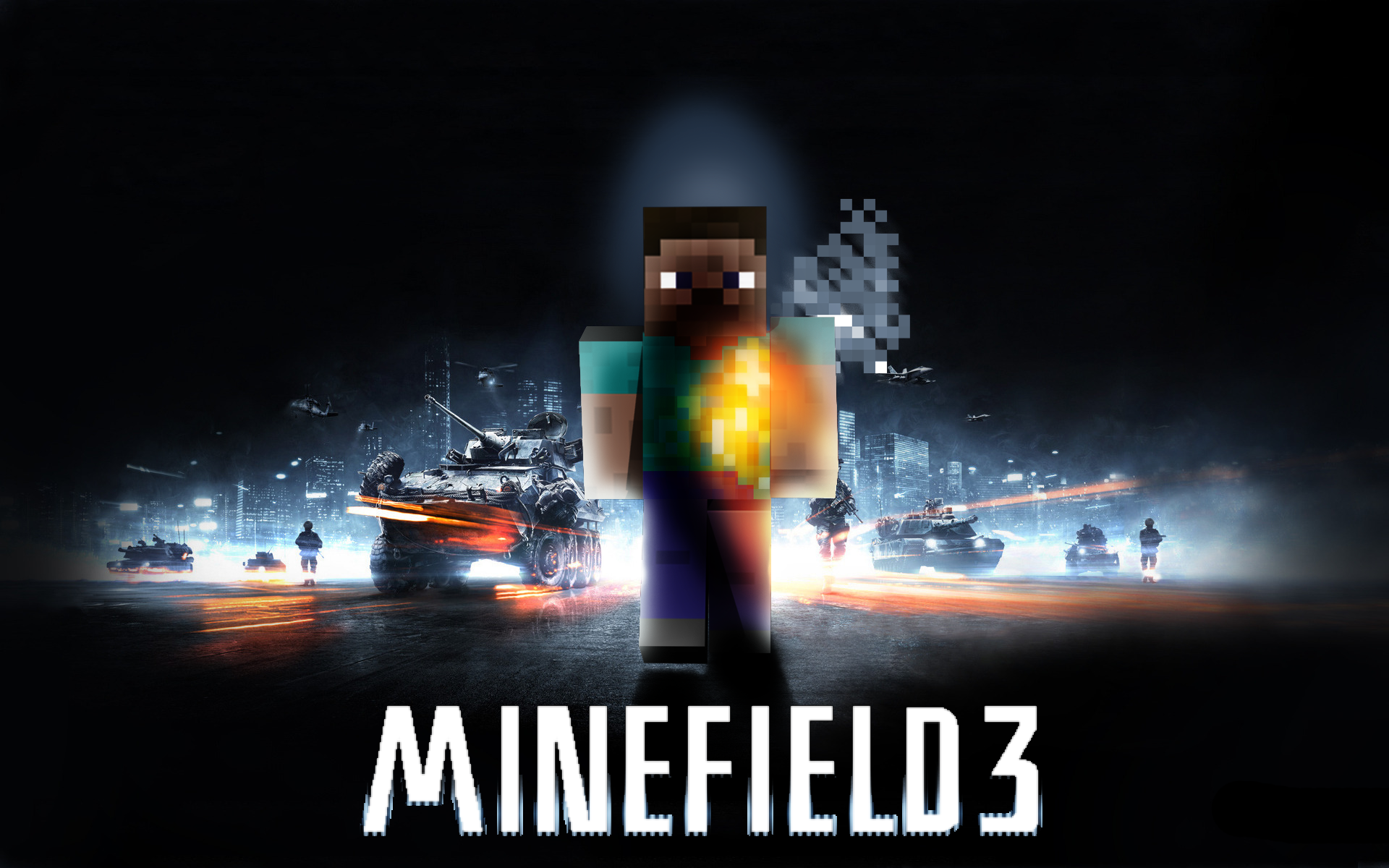 Must see Wallpaper Minecraft Poster - minefield3  Collection_505585.png
