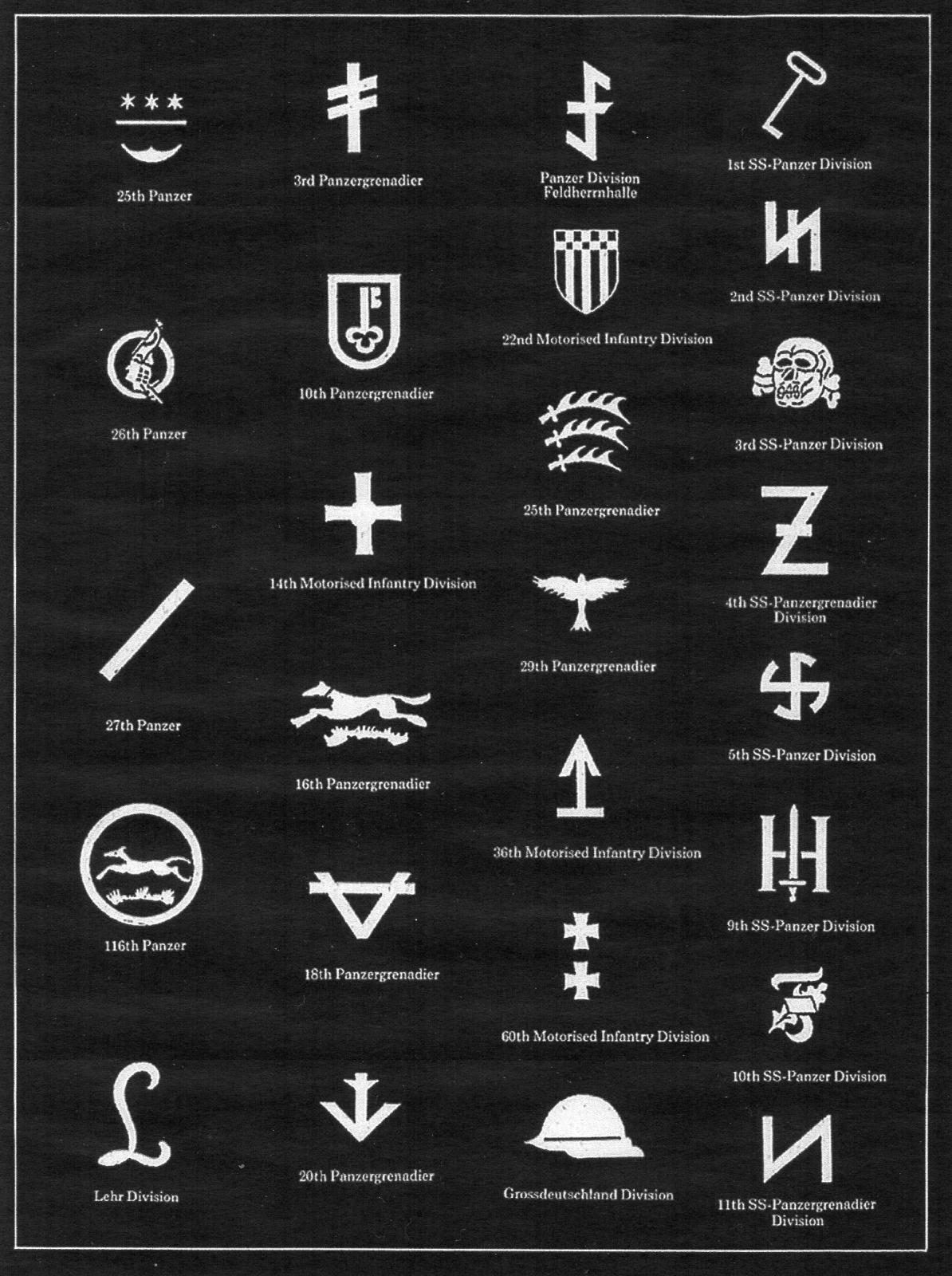 Some logos of Wehrmacht and Waffen SS image - Mod DB