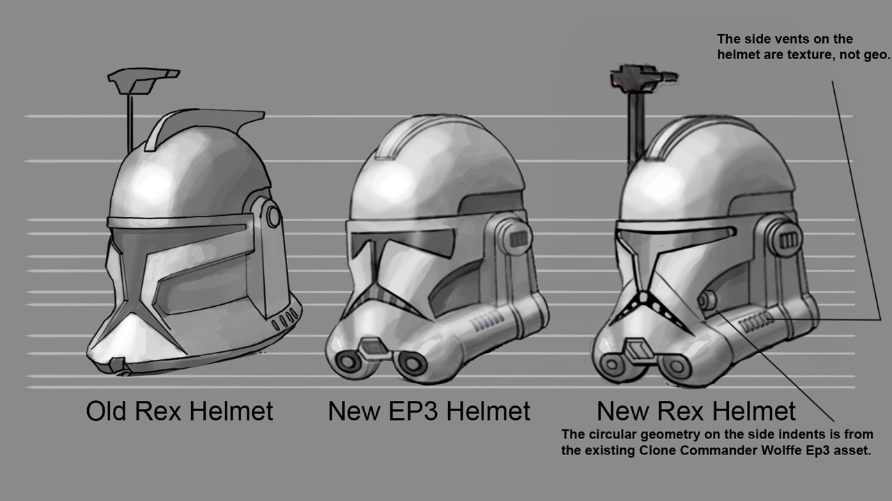 Rex's Helmet : starwarscanon