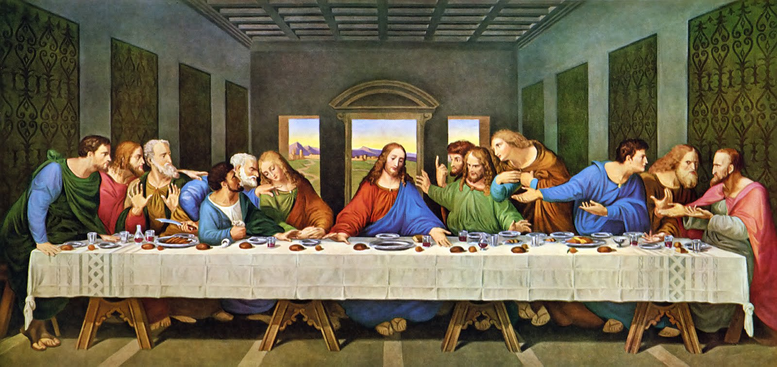 Passover 2013 image - Christians of Moddb - Mod DB Da Vinci Last Supper Restored
