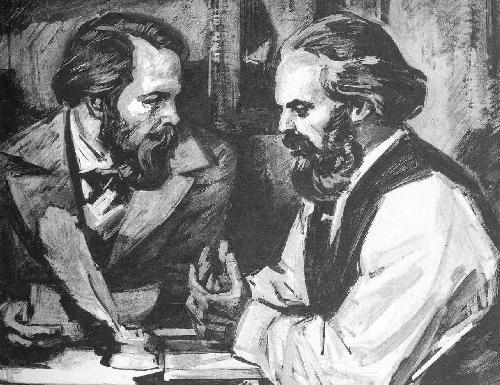 Karl Marx and Friedrich Engels image - The Communist Party ...