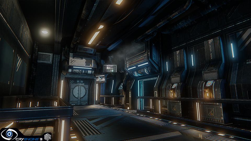 Scifi Corridor By Edward Hanley Image Cryengine