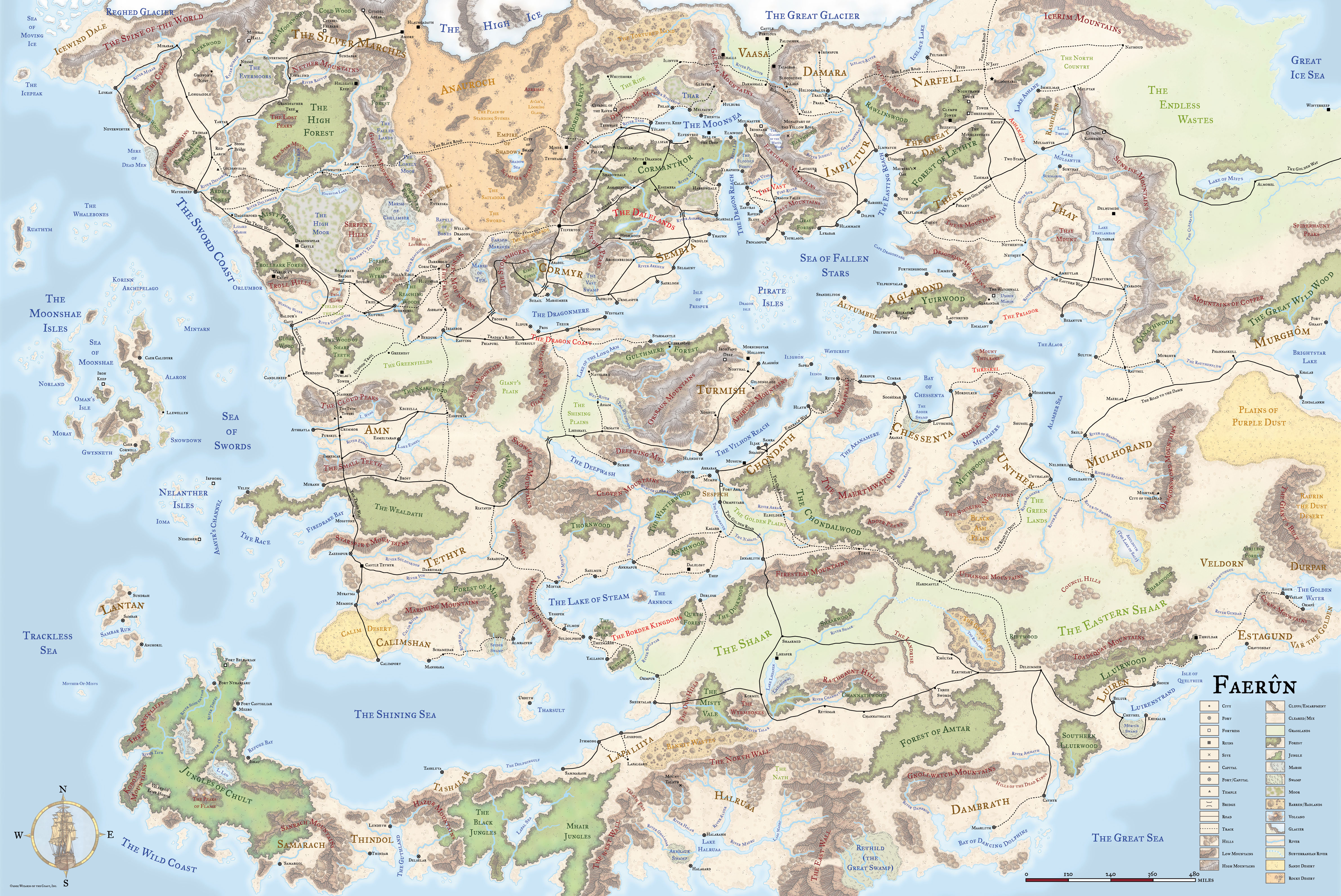 150dpi forgotten realms map hq image fantasy fans mod db map hq view original gumiabroncs Gallery