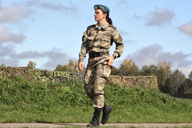 Kazakhstan Airmobile Troops Female Member Image Females