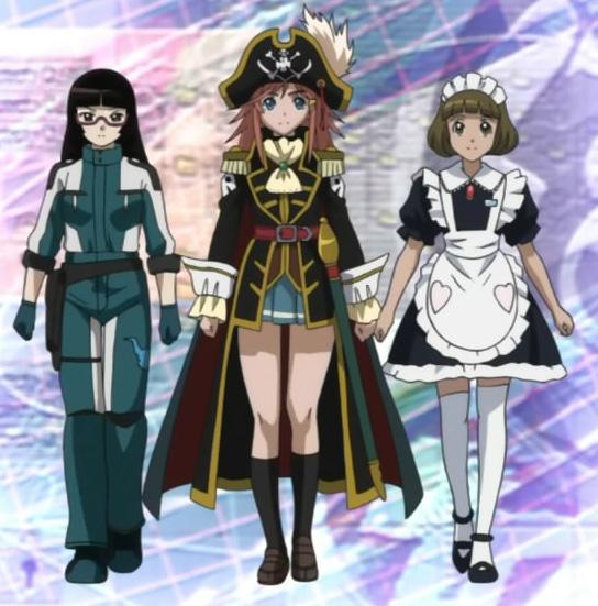 Manga Anime Pirates: Mouretsu Space Pirates Image