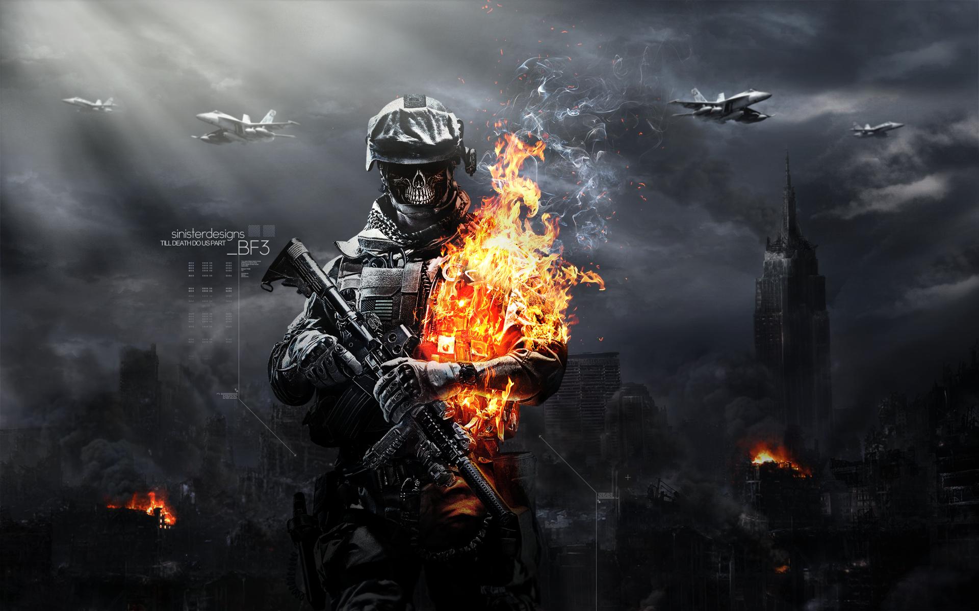 skulls fire image battlefield3 mod db