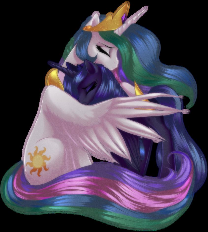 Histoire d'Equestria World Celestia_And_Luna_by_Rizcifra