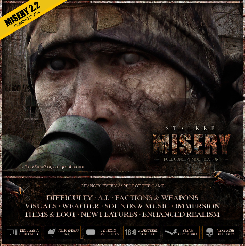 Скачать S.T.A.L.K.E.R.: Call of Pripyat - MISERY бесплатно