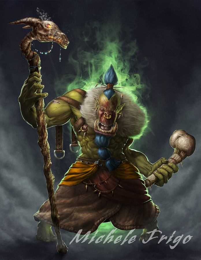 orc shaman image - Orc clan and Orks fantasy and monsters ...