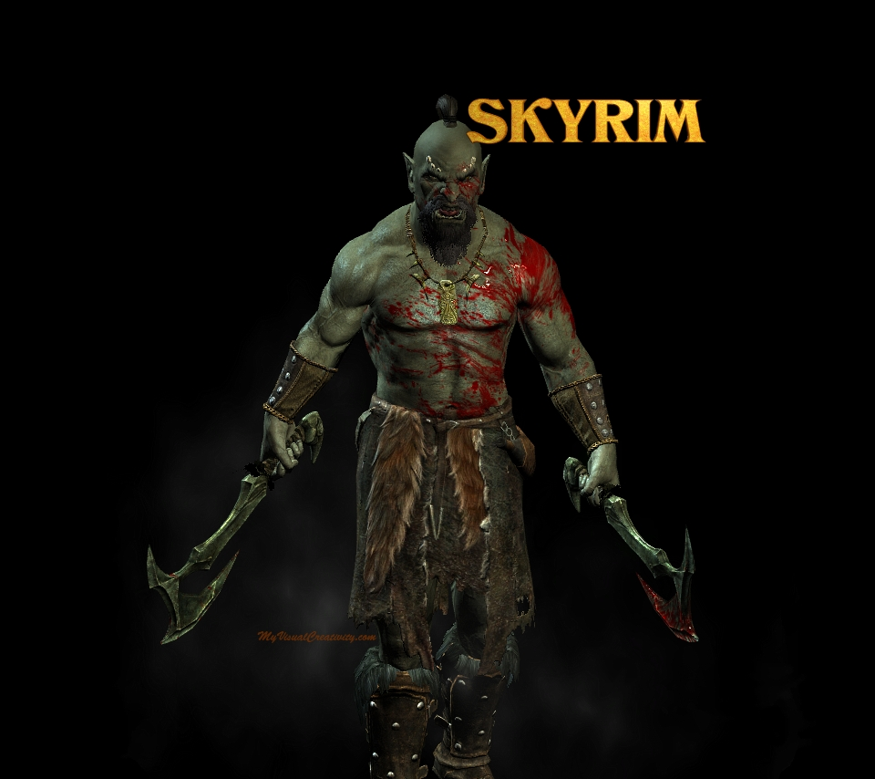 skyrim game 2 image - Orc clan and Orks fantasy and monsters