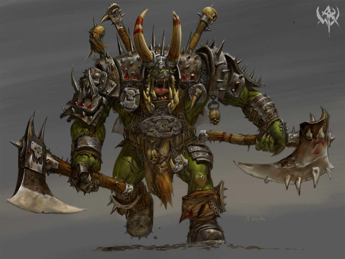 warboss nogaz image - Orc clan and Orks fantasy and monsters fan group - Mod DB