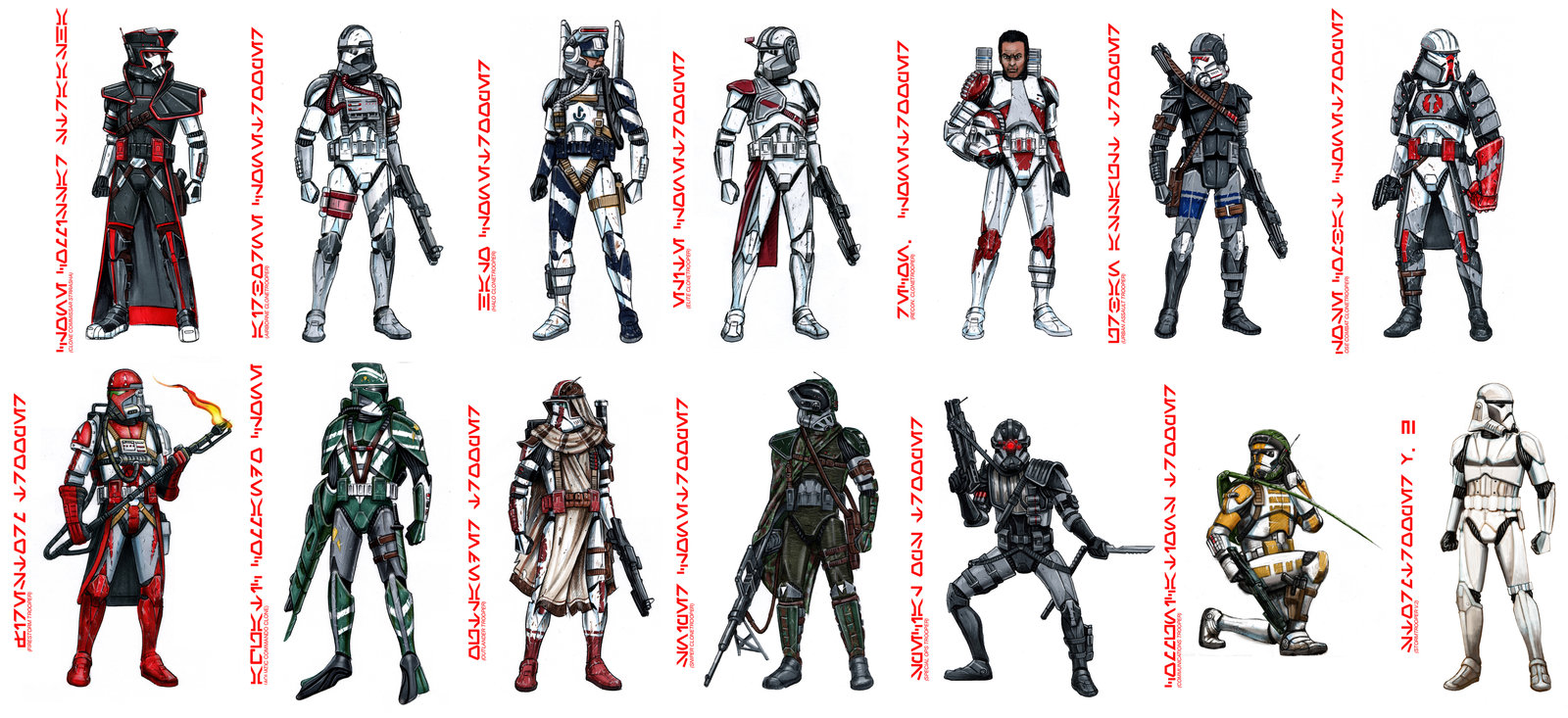 Gallery For gt Star Wars The Clone Troopers Names