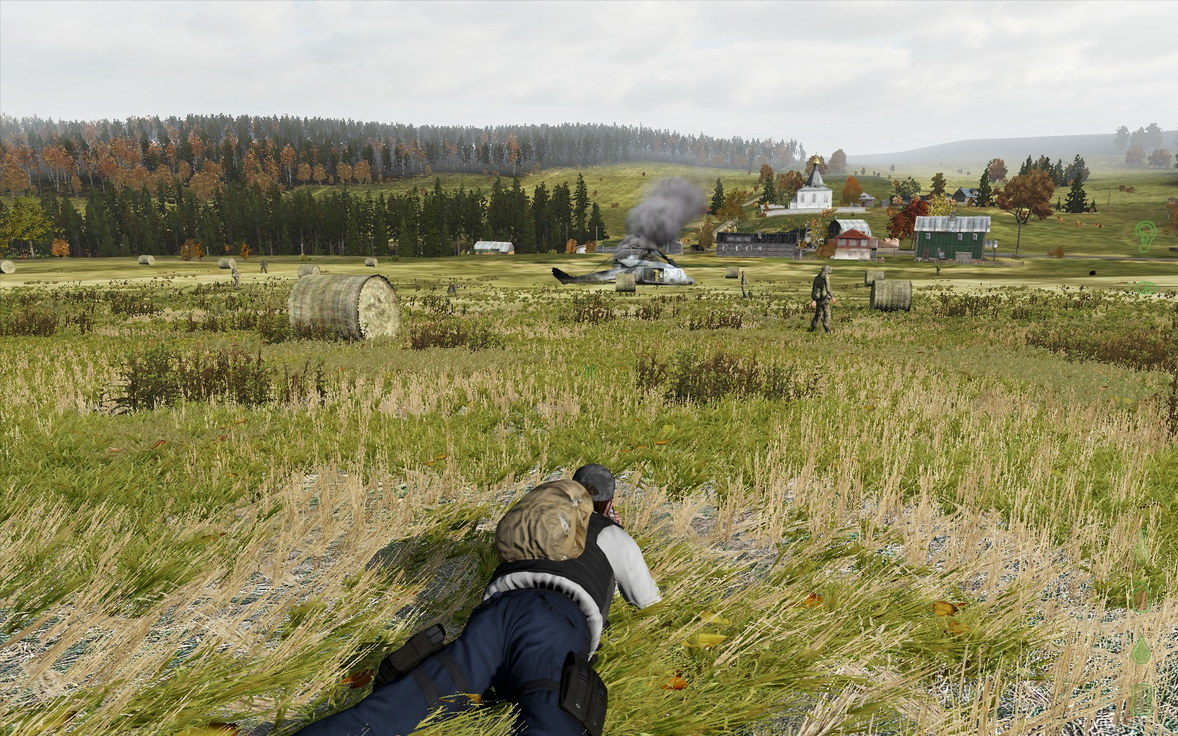Sneaking up on a heli crash site image - Day Z Survivors