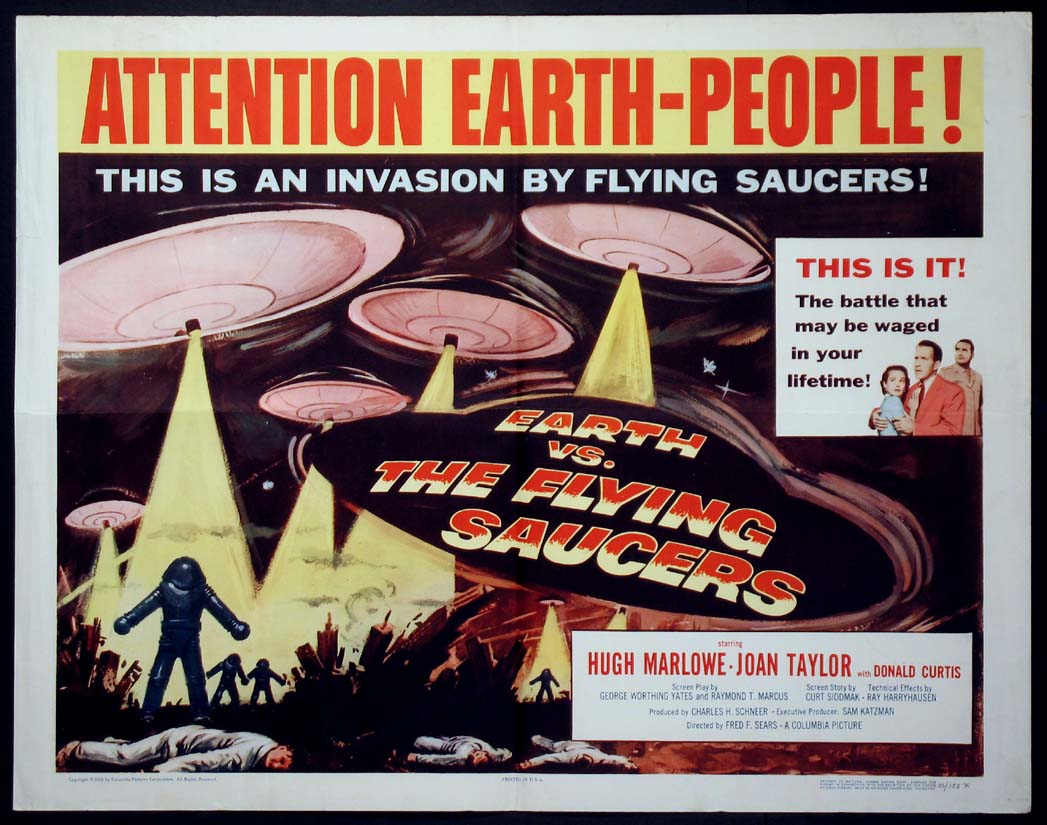 Earth vs the Flying Saucers - movie poster image - Dark Force ...