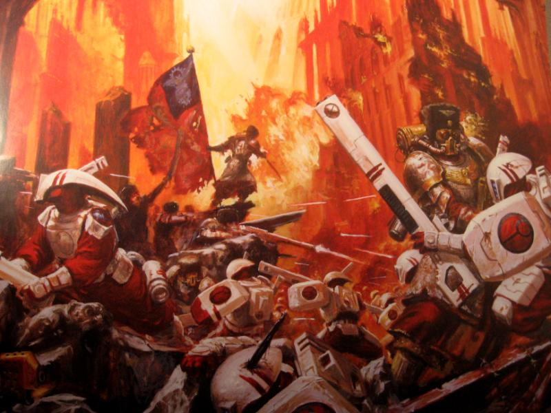 Vostroyan Scions: Tau Vs Imperial Guard Wallpaper Image