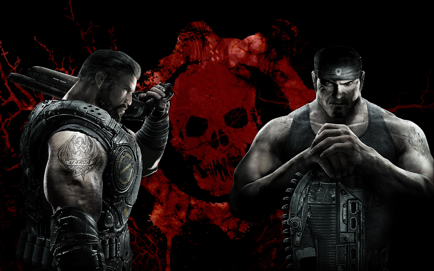 Gears Of War Cool Wallpaper Image Dark Force Science Fiction