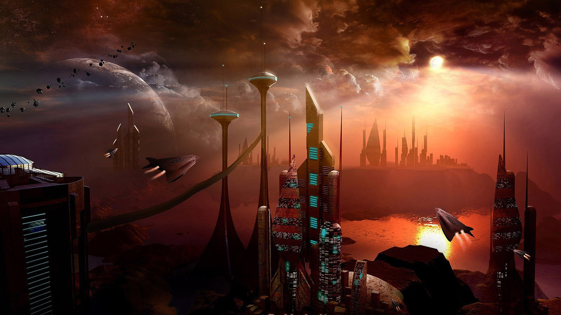 space city image - Dark Force,Science Fiction,Fan Group ...