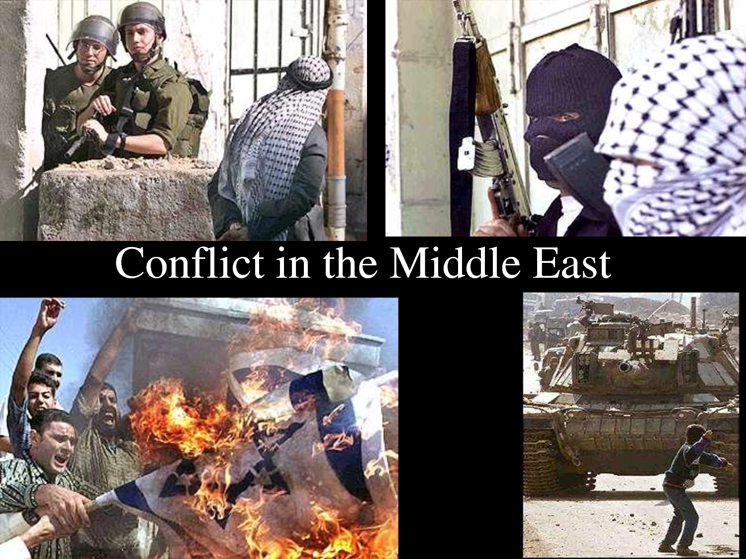 continuing conflicts in middle east The arab-israeli conflict refers to the political tension, military conflicts and disputes between a number of arab countries and israelthe roots of the arab-israeli conflict are attributed to the rise of zionism and arab nationalism towards the end of the 19th century.