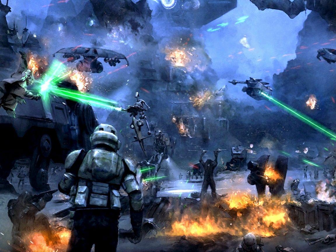 Star Wars Battle Backgrounds: Delta's Timeline Project: Battle Of Kashyyk Image