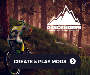Race custom downhill mountain biking tracks created by the community in Descenders