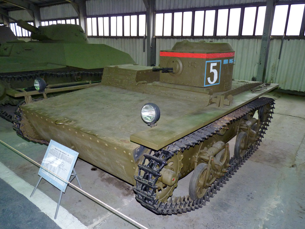 Surviving T-38 at the Kubinka tank museum
