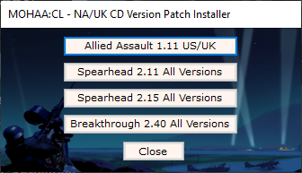 Patch Installer for MOHAA & Expansions